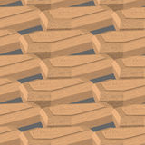 Coffin isometric illustration. Seamless pattern box for dead. Royalty Free Stock Photo