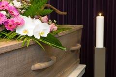 Coffin in morgue Stock Image