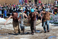 Coffin Race - Frozen Dead Guy Days Stock Photography