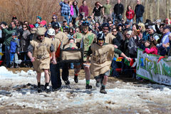 Coffin Race - Frozen Dead Guy Days Stock Photos