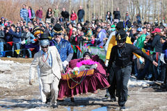 Coffin Race - Frozen Dead Guy Days Stock Photo