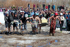 Coffin Race - Frozen Dead Guy Days Stock Photos