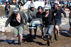 Coffin Race - Frozen Dead Guy Days Stock Photo