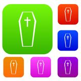 Coffin set collection Royalty Free Stock Photo