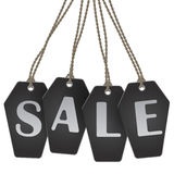 Coffin shaped tags sale stock illustration
