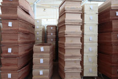 Coffins. Stock of a company that manufactures coffins Royalty Free Stock Photography