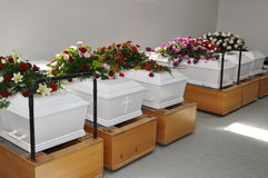 Coffins stock images