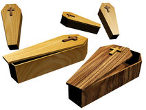 Coffins Royalty Free Stock Images