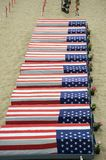 Coffins covered with American flags Royalty Free Stock Images