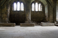 The coffins of Kirkstall Abbey Royalty Free Stock Images