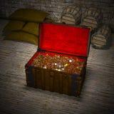 Coffre au trésor Images stock