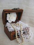 Coffre avec des bijoux Photos stock