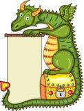 Coffre d'or de dragon Photos libres de droits