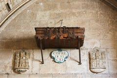 Coffre d'El Cid dans la cathédrale de Burgos Images libres de droits
