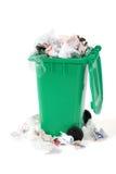 Coffre d'ordures de débordement Image stock