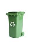 Coffre d'ordures vert Images libres de droits