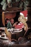 Coffre de Noël de vintage Image libre de droits