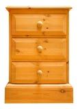 Coffre de pin des tiroirs d'isolement photographie stock libre de droits