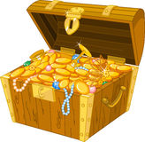 Coffre de trésor illustration libre de droits
