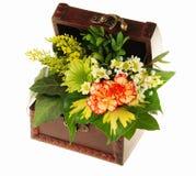 Coffre des fleurs Photos libres de droits