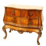 Coffre des tiroirs en bois Photo stock