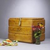 Coffre en bois photo stock