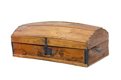 Coffre en bois antique Photographie stock libre de droits