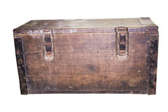 coffre en bois avec deux serrures Images stock