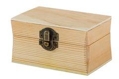 Coffre en bois verrouillé Photos stock