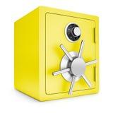 Coffre-fort d'or de sécurité illustration stock