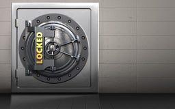coffre-fort 3d sûr illustration stock