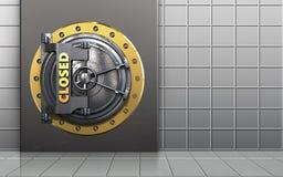 coffre-fort 3d sûr Images libres de droits