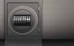 coffre-fort 3d sûr illustration de vecteur