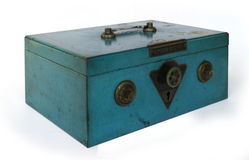 Coffre-fort de main de vintage Photo libre de droits