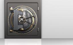 coffre-fort de porte de la chambre forte 3d Images stock
