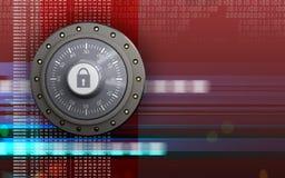 coffre-fort de serrure de combinaison 3d Image libre de droits
