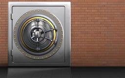 coffre-fort en métal de porte de la roue 3d Images stock