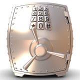 Coffre-fort en métal de sécurité Photographie stock libre de droits