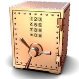 Coffre-fort en métal de sécurité Photo stock