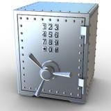 Coffre-fort en métal de sécurité Image libre de droits
