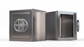 Coffre-fort en métal de sécurité avec l'espace vide à l'intérieur Photo libre de droits