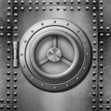Coffre-fort en métal ou illustration de la porte 3d Photographie stock