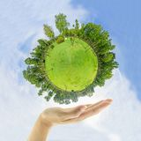 Coffre-fort la terre verte Photographie stock libre de droits