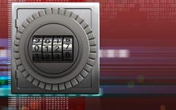 coffre-fort sûr en métal 3d Photo stock