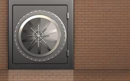 coffre-fort sûr en métal en métal 3d Image stock