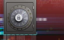 coffre-fort sûr en métal 3d Image libre de droits