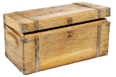 Coffre ou boîte à outils de cru Images stock