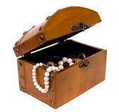 Coffre ouvert en bois Image stock