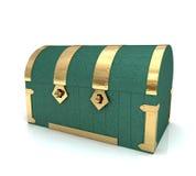 Coffre vert Photo stock
