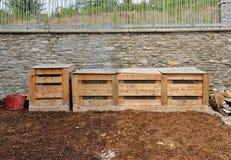 Coffres de compost en bois Image libre de droits